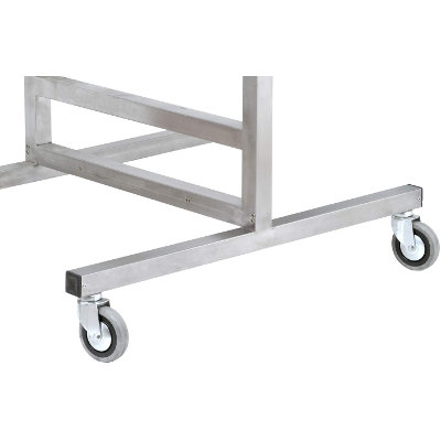 Frame on wheels in different sizes for mounting of OSMA shoe dryers on one or both sides.