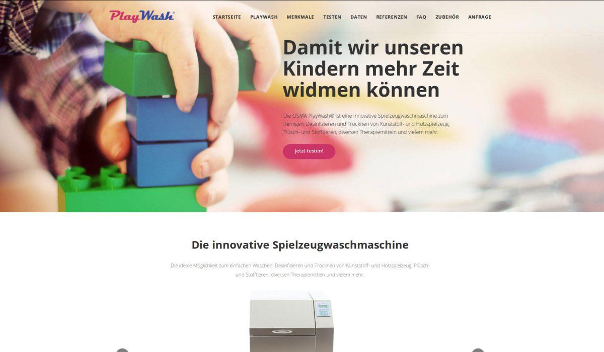 Produktseite der OSMA PlayWash online