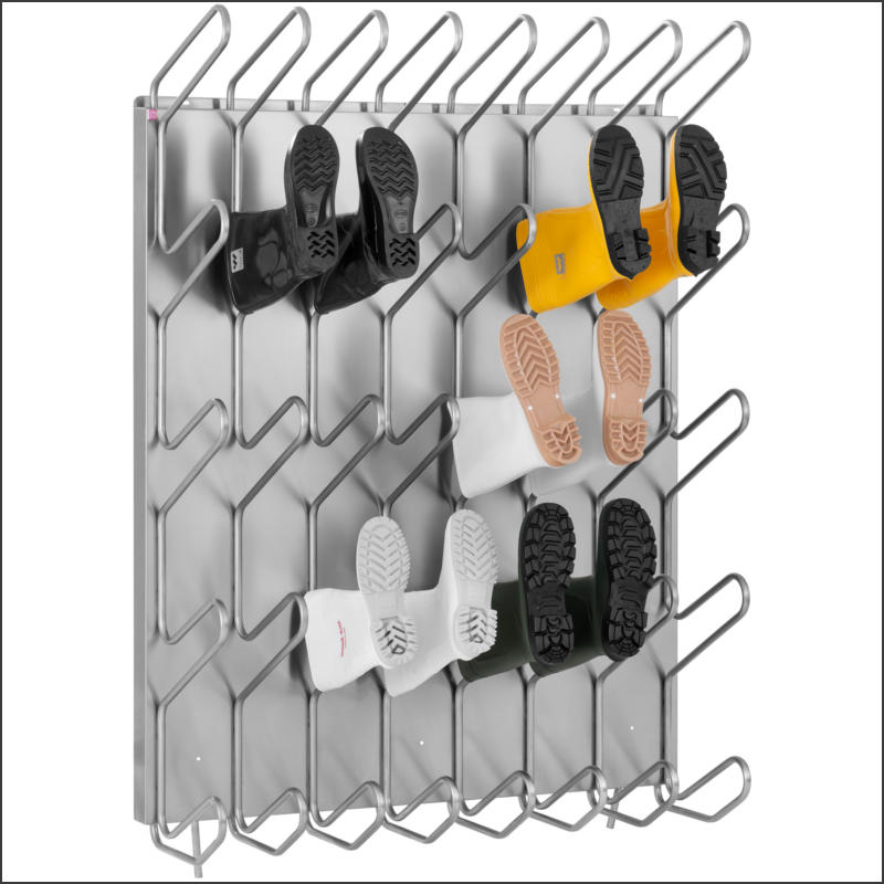 Shoe and boot dryers for connecting to the central heating system